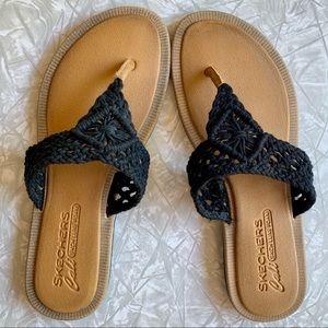 Skechers Indulge Earth Baby Thong Sandals 8